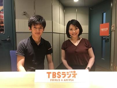中澤有美子さんとTBS杉山真也アナウンサー