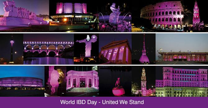 世界IBDデー2021ライトアップ